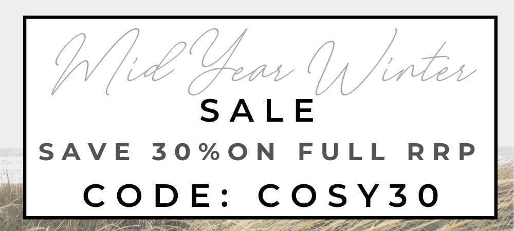 Save 30% off all full priced products! Enter code COSY30 at checkout