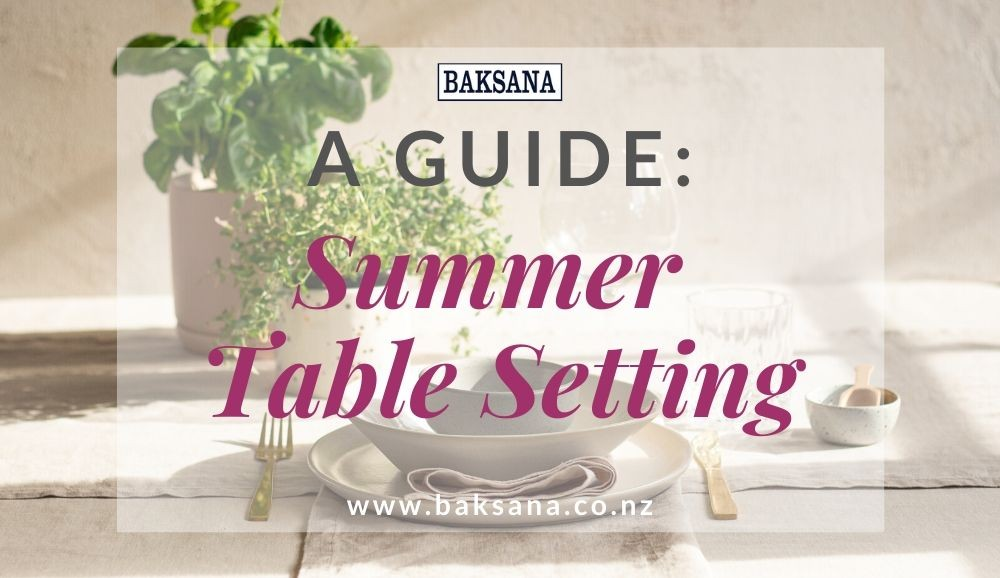 A Guide: Summer Table Setting